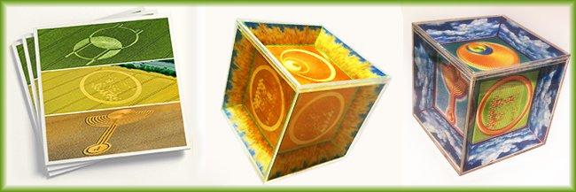 broschuere und cubes